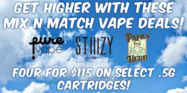 MIX N MATCH - Orchid Live Resin/Papa's Herb/Pure Vape/ Stiiizy Premium .5 - 3 for $90