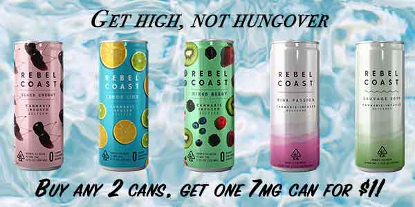 FEATURED DEAL - Rebel Coast - Buy 2 get 7mg for $1