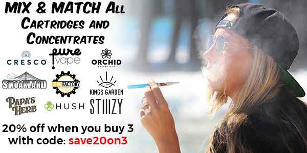 MIX N MATCH - Cartridges/Concentrates - 20% off any 3