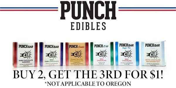 FEATURED DEAL - Punch Edibles - Buy 2 get 1 for $1